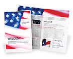 America: Flag of the United States of America Brochure Template #01851