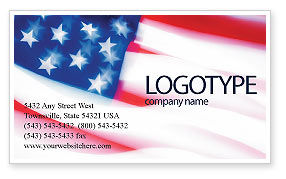 Flag Of The United States Of America Business Card Template Layout