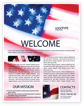 Flag of the United States of America Flyer Template