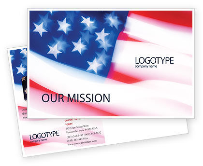 Flag of the United States of America Postcard Template, 01851, America — PoweredTemplate.com