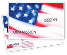America: Flag of the United States of America Postcard Template #01851