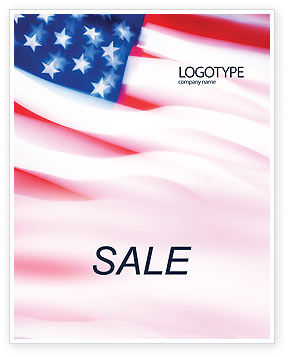 Flag of the United States of America Sale Poster Template, 01851, America — PoweredTemplate.com