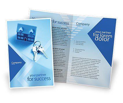 Real Estate Brochure Template, 01859, Careers/Industry — PoweredTemplate.com