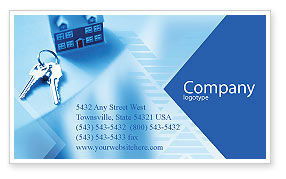 Careers/Industry: Real Estate Business Card Template #01859