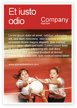Sports: Volleyball Ad Template #01862