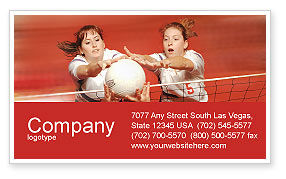 Sports: Volleyball Business Card Template #01862