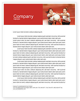 Volleyball Letterhead Template, 01862, Sports — PoweredTemplate.com