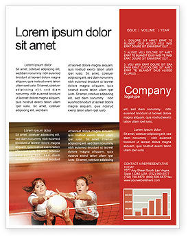 Sports: Volleyball Newsletter Template #01862