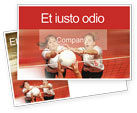 Sports: Volleyball Postcard Template #01862