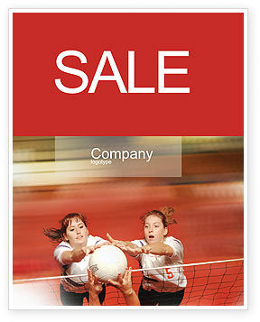 Sports: Volleyball Sale Poster Template #01862