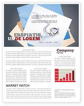 Transient Time Newsletter Template, 01864, Construction — PoweredTemplate.com