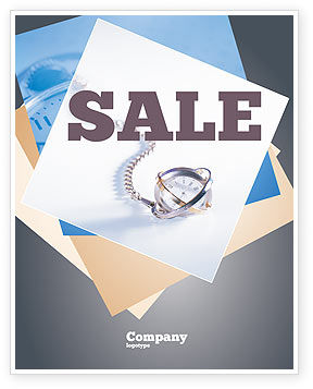 Transient Time Sale Poster Template, 01864, Construction — PoweredTemplate.com