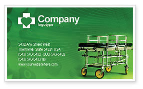 Stretcher Business Card Template, 01865, Medical — PoweredTemplate.com