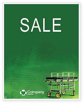 Medical: Stretcher Sale Poster Template #01865