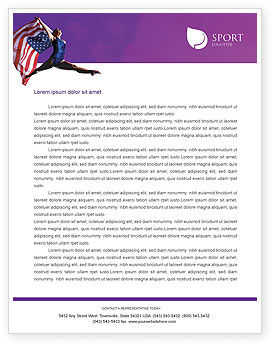 American Sports Letterhead Template, 01877, Sports — PoweredTemplate.com