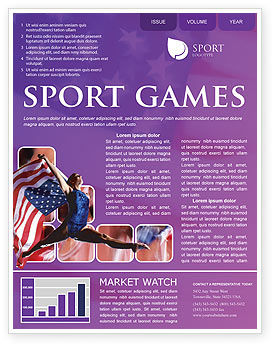 Sports: American Sports Newsletter Template #01877