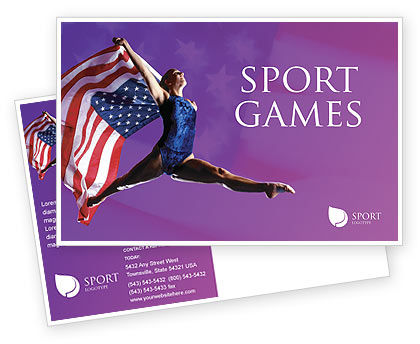 American Sports Postcard Template, 01877, Sports — PoweredTemplate.com