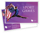 Sports: American Sports Postcard Template #01877