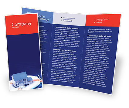 Property Insurance Brochure Template, 01878, Business Concepts — PoweredTemplate.com