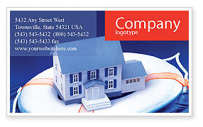 Business Concepts: Property Insurance Business Card Template #01878