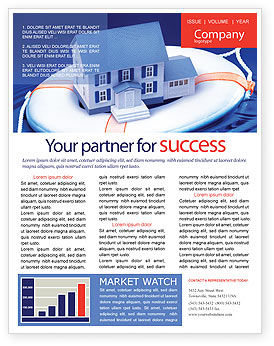 Business Concepts: Property Insurance Newsletter Template #01878