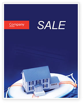 Business Concepts: Property Insurance Sale Poster Template #01878