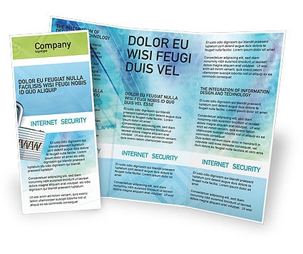 Abstract/Textures: Data Security Brochure Template #01879