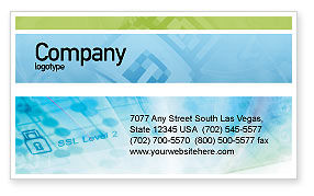 Abstract/Textures: Data Security Business Card Template #01879