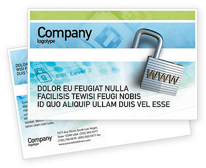 Abstract/Textures: Data Security Postcard Template #01879