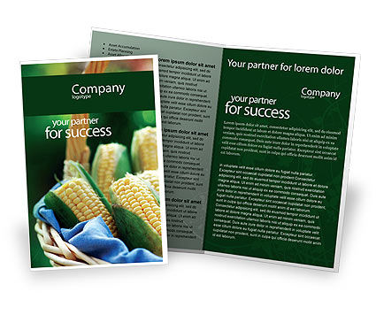 Corn Brochure Template