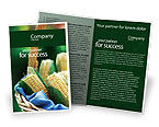 Agriculture and Animals: Corn Brochure Template #01882