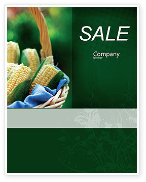 Agriculture and Animals: Corn Sale Poster Template #01882