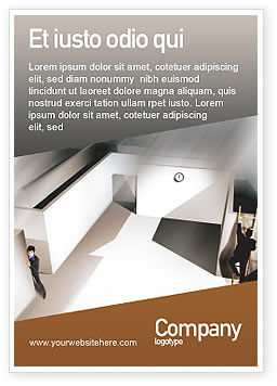 Business Concepts: Office Labyrinth Ad Template #01883