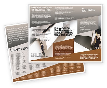 Office Labyrinth Brochure Template, 01883, Business Concepts — PoweredTemplate.com