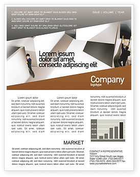 Office Labyrinth Newsletter Template, 01883, Business Concepts — PoweredTemplate.com