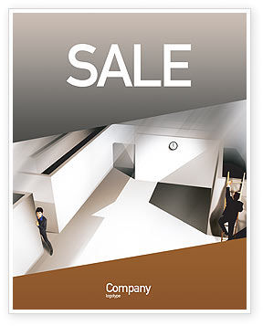 Office Labyrinth Sale Poster Template, 01883, Business Concepts — PoweredTemplate.com