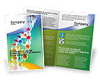 Medical: DNA On A Green Yellow Blue Brochure Template #01884