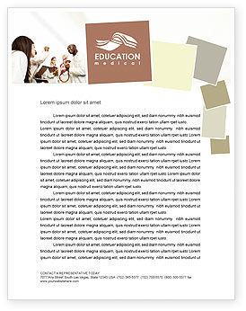 Education & Training: Anatomical Theatre Letterhead Template #01886