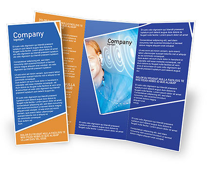 Waves Brochure Template, 01888, Technology, Science & Computers — PoweredTemplate.com