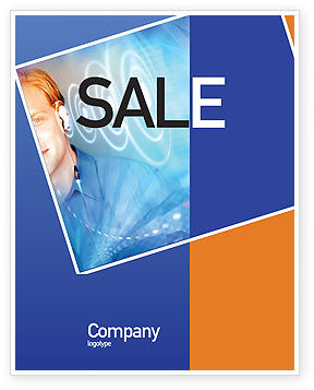 Technology, Science & Computers: Waves Sale Poster Template #01888