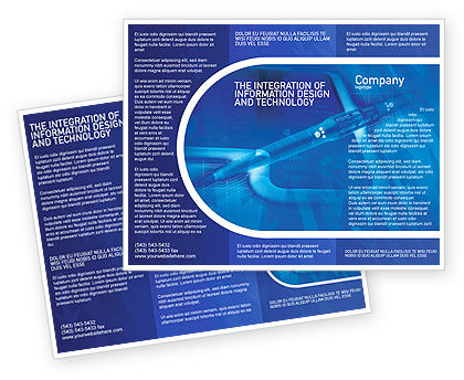 High Tech Digital Pen Brochure Template, 01890, Technology, Science & Computers — PoweredTemplate.com