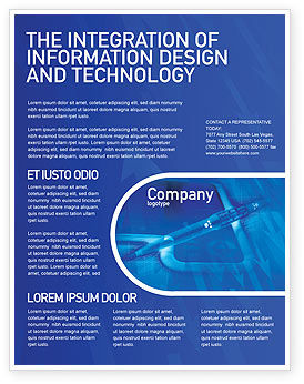 high tech digital pen flyer template background in microsoft word