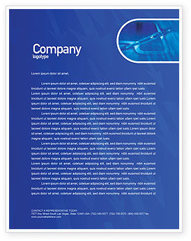 Technology, Science & Computers: High Tech Digital Pen Letterhead Template #01890