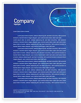 High Tech Digital Pen Letterhead Template, 01890, Technology, Science & Computers — PoweredTemplate.com