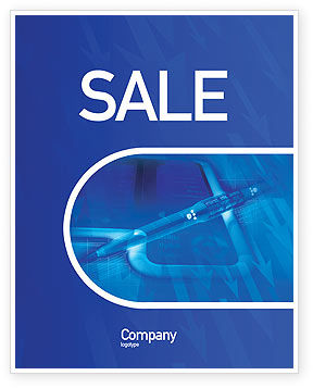 Technology, Science & Computers: High Tech Digital Pen Sale Poster Template #01890