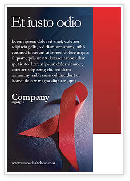 Medical: Aids Advertentie Template #01892