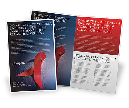 AIDS Brochure Template, 01892, Medical — PoweredTemplate.com