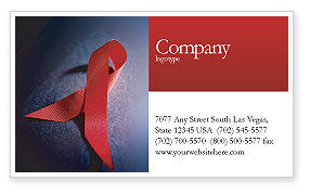 Medical: AIDS Business Card Template #01892