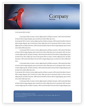 Medical: AIDS Letterhead Template #01892