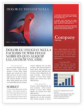 Medical: AIDS Newsletter Template #01892